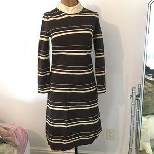 VTG 70's Knit 'Bleeker Street' Long Sleeve Dress